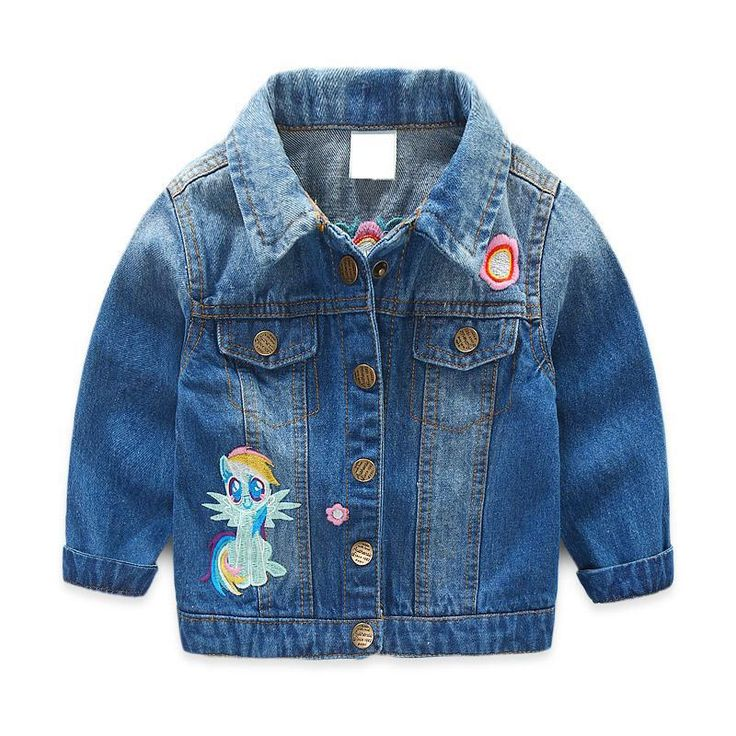 Baby Girls Denim Jacket Vintage Jeans Jackets for Girl Toddler Baby Denim Jackets Girls Jean Jacket #Affiliate