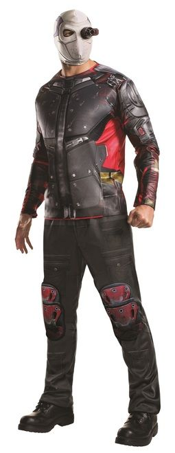 Deluxe Deadshot Suicide Squad Mens Costume - The world's deadliest and most accurate marksman, this Deadshot costume allows you to take on the persona of Deadshot. This is the officially licensed Deadshot costume from the DC Comics Suicide Squad movie. Sublimated pants and shirt as well as the Deadshot mask with target device. Perfect for Halloween, comic con or part of a Suicide Squad group. #YYC #Calgary #costume #Deadshot #SuicideSquad
