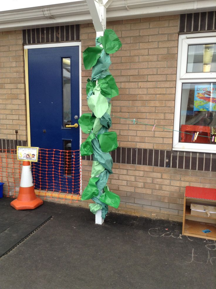 Jack and the beanstalk in our outdoor area