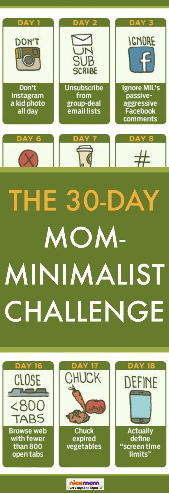 The 30 Day Mom Minimalist Challenge More Lols Amp Funny