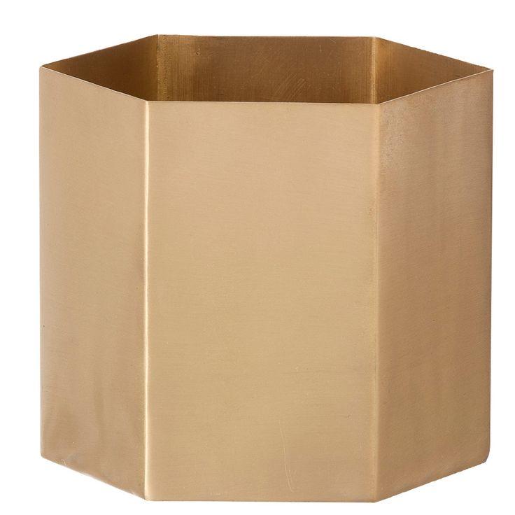 Hexagon pot brass – Ferm Living #design #interior