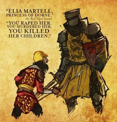 Prince Oberyn Martell (The Red Viper) vs. Gregor Clegane ...