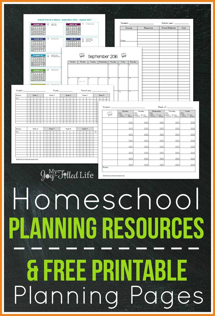 FREE Printable Homeschool Planning Pages