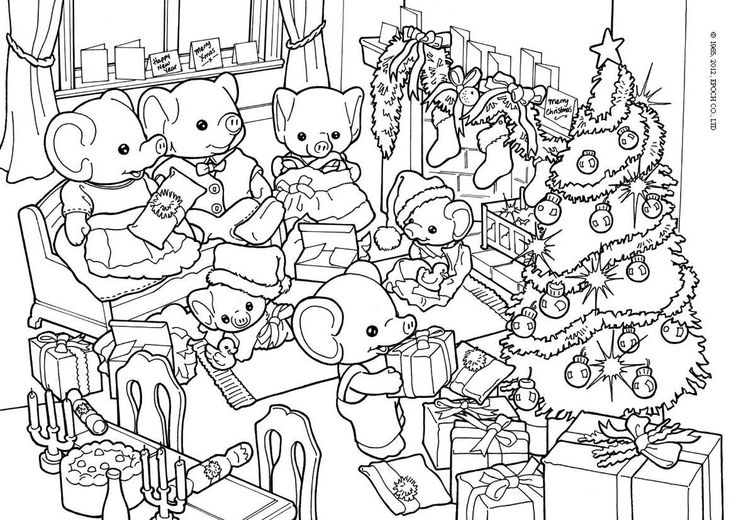 37 best Crafty (Sylvanian Families) Coloring images on ...