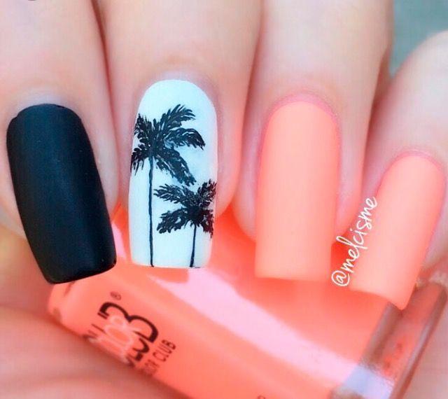 Reminds Me Of Florida Tropical Nail Designs Tropical Nails Nail Designs Summer