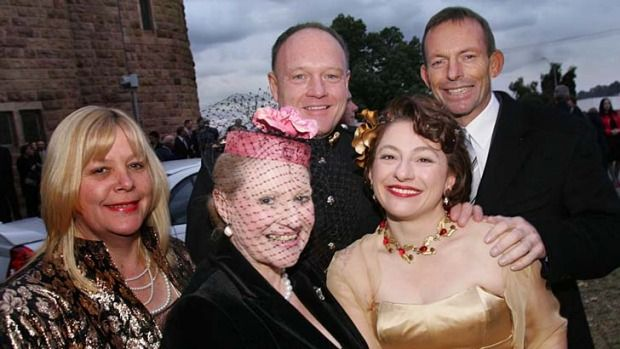 TAR...BRUSH: Tony Abbott repays expenses after charging taxpayers to attend Sophie Mirabella's wedding