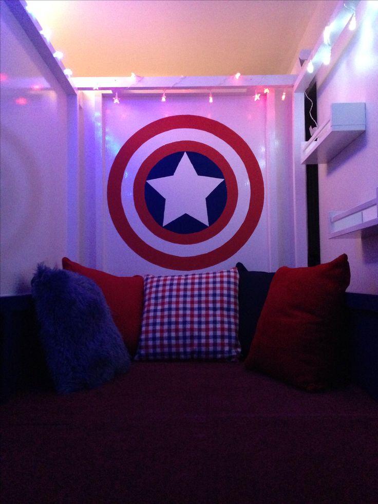 Captain America Bedroom Ikea Kura Hack Playden