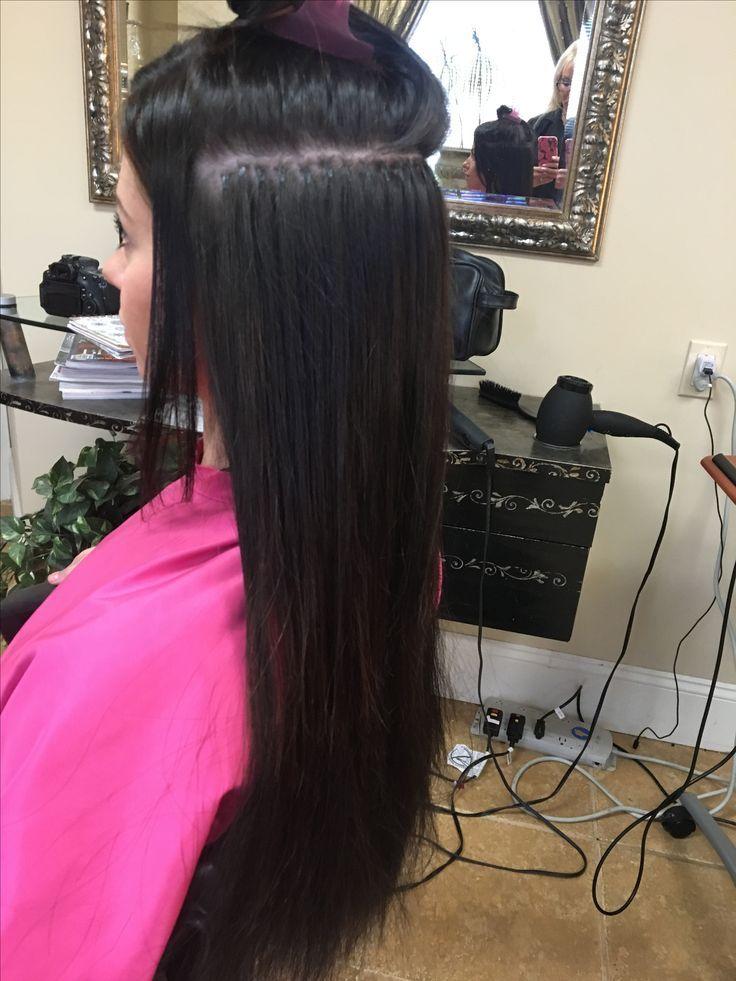 Cold fusion bonded keratin hair extensions process