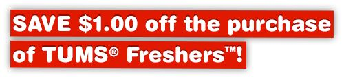 $1 off Tums Freshers #WebSaver #coupon #FB