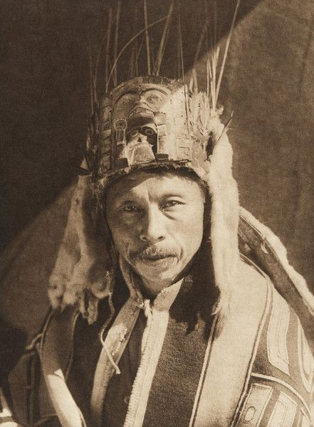 Raven Chief of Skidegate - Haida (The North American Indian, v. XI. Cambridge, MA: The University Press, 1916) by Edward Sheriff Curtis from USC Libraries