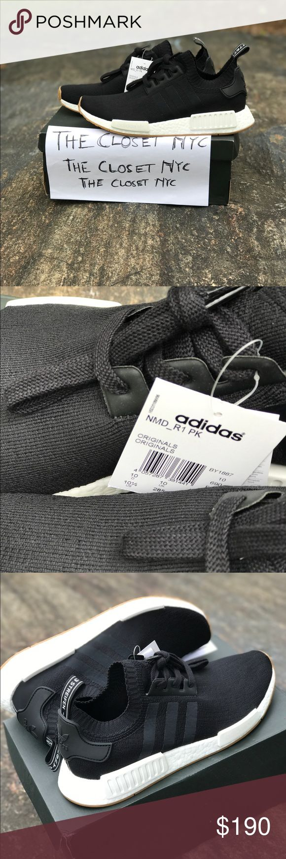 Adidas Nmd R1 Pk Gum Pack Black Legit NMD R1 Pk Gum Pack Black.                                                  STYLE CODE : BY1887.                                                                            New with box and u can ask for anything to make you know u buying the right thing. receipts, more pictures etc. Heads up i took all the photos myself. Item would be shipped double box Adidas Shoes Sneakers