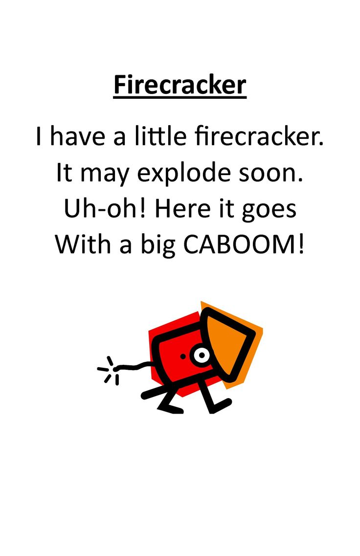 Itty Bitty Independent and Beach Babies Rhyme: Firecracker