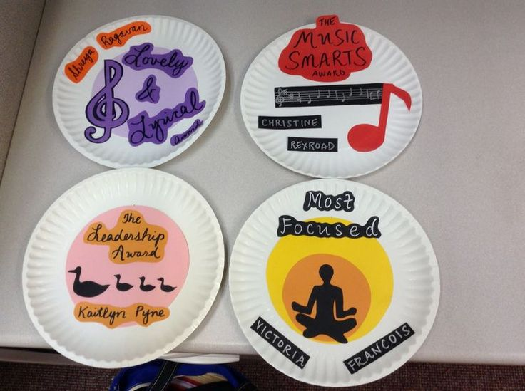 Paper plate awards for choir & 9 best Paper plate awards images on Pinterest | Paper plate awards ...