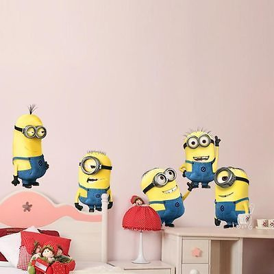 Minions Despicable Me 2 Removable Wall Stickers Decal Decor Mural Gift