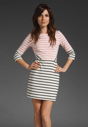 Loving this dress: Pretty Dresses, Spring Dresses, Panels Dresses, Lupfer Stripes, Markus Lupfer, Stripes Panels, Stripes Dresses, Black Stripes, Pink Marine