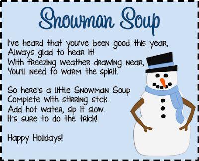 (free!): Snowman Soup Labels Printable, Snowman Soup Free Printable ...