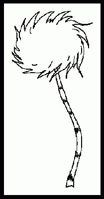 dr seuss printable coloring page drseuss coloring pages 5 lorax truffle tree
