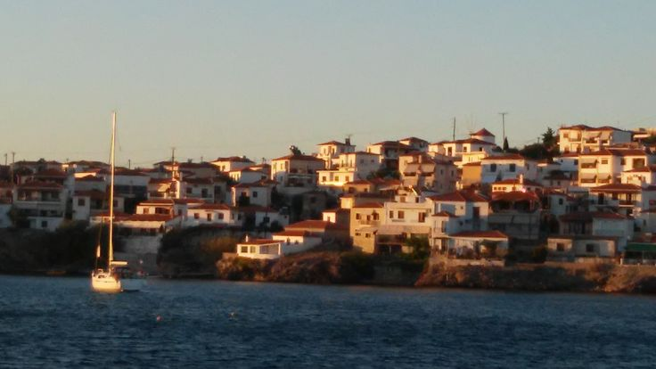 Sigri from the beach - Lesvos island - Greece