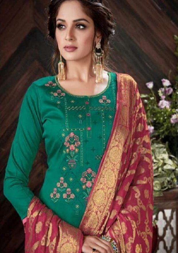 c97c32c909 Belliza Designer Studio Banarasi Pure Heavy Jam Silk With Banarsi Dupatta  suit 199-009