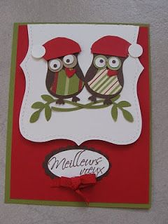 WoW !!! Mes petits hibous de Noël... Ne sont-ils pas beaux ? C'est un nouveau poinçon qui fait partit du catalogue 2010/2011, le poinçon ''...