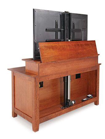 Телевизор с плоским экраном Лифт шкаф   Woodsmith планы
