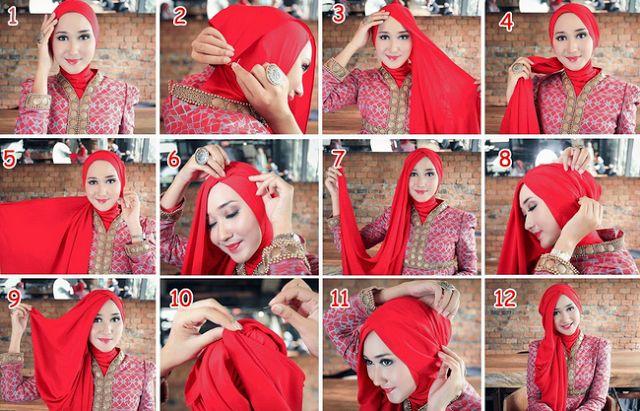 Tutorial Hijab Pashmina Untuk Pesta Ala Dian Pelangi