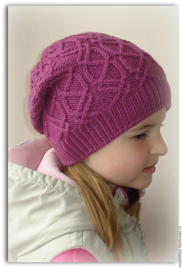 схема вязания спицами шапочки клубники