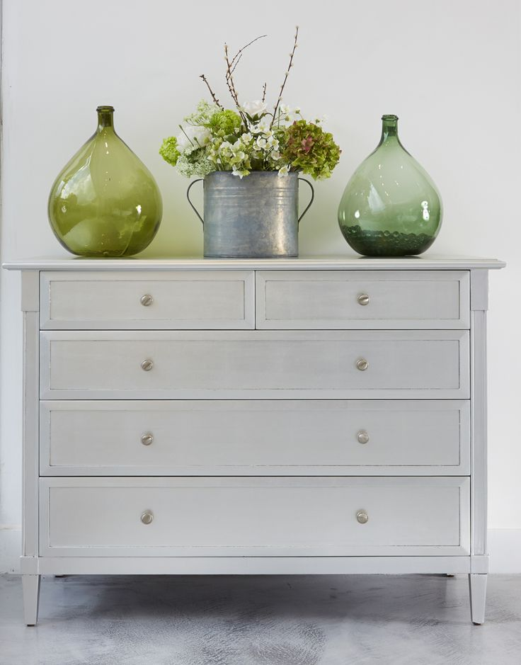 The Empire chest of drawers is shown in a glamorous silver leaf finish simonhorn.com