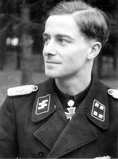 "✠ Joachim Peiper (30 January 1915 – 14 July 1976) Murdered in France. RK 09.03.1943 SS-Sturmbannführer Kdr III./(gp.)/2. SS-Pz.Gren.Rgt ""LSSAH"" [377. EL] 31.12.1941 SS-Sturmbannführer Kdr SS-Pz.Rgt 1 ""LSSAH"" [119. Sw] 11.01.1945 SS-Obersturmbannführer Kdr SS-Pz.Rgt 1 ""LSSAH"""