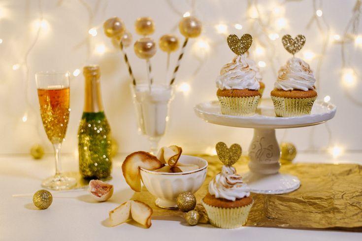 Goldener Silvester Sweet Table