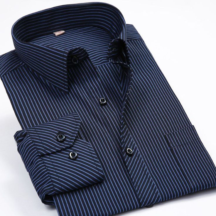 Fashion New 2016 Men Shirts Male Striped Formal Dress Shirt Long Sleeve Mens Brand Casual Shirts Plus Big Size US Size 5XL 6XL  #fashion