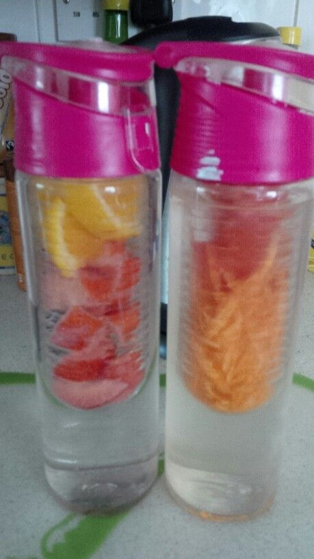 Fruit in your water helps you hydrate your body choose ur own flavours