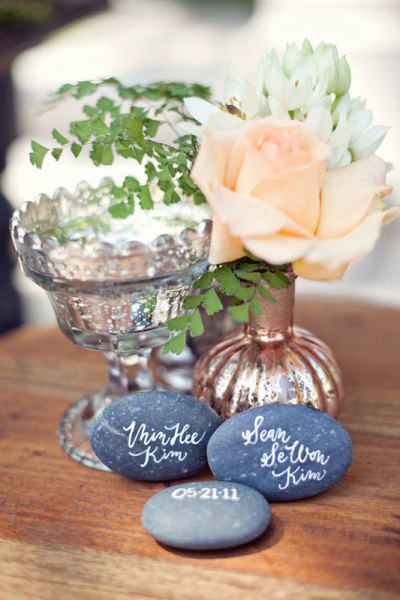 100 Unpolished Wishing Stones - Guest Book Alternative
