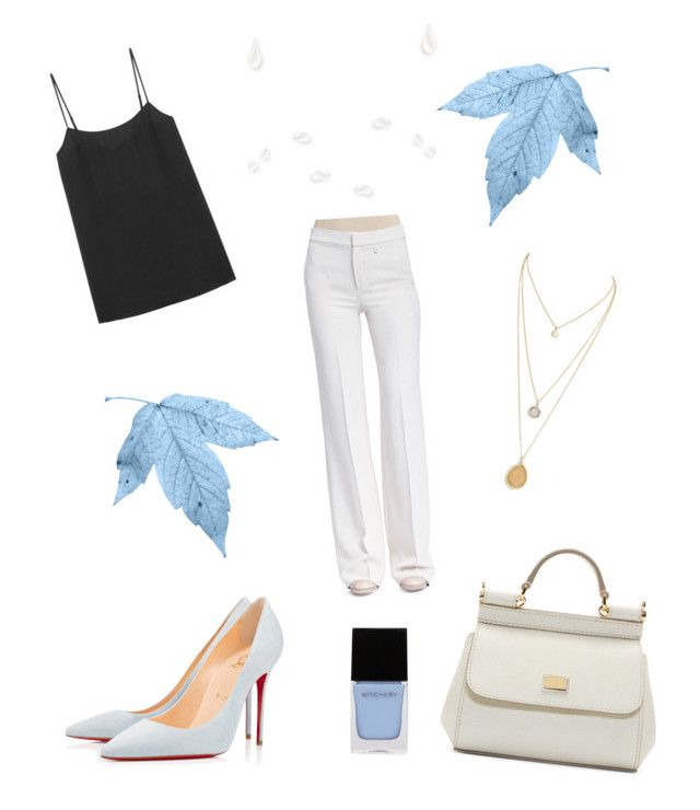 """""""Last day of work"""" by weijin on Polyvore featuring Christian Louboutin, Equipment, Chloé, Dolce&Gabbana and Witchery"""