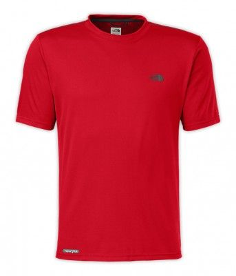 Camiseta Ther North Face Men's Short Sleeve Reaxion Amp Crew Tnf Red Asphalt Grey #Camiseta #Ther North Face