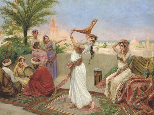 ottoman painting | What's with ignoring the dancers? Is there some reason the musicians ...