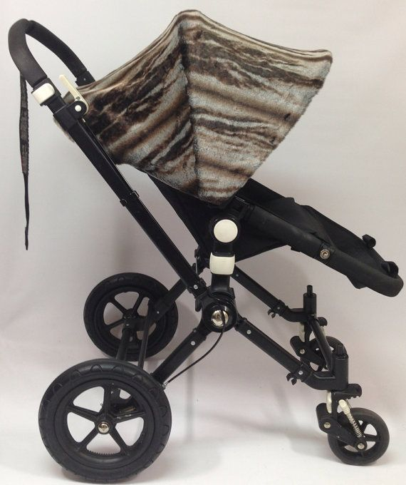 Faux chinchilla fur Replacement custom canopy or hood for bugaboo strollers. Cameleon, Cameleon3, frog, donkey.