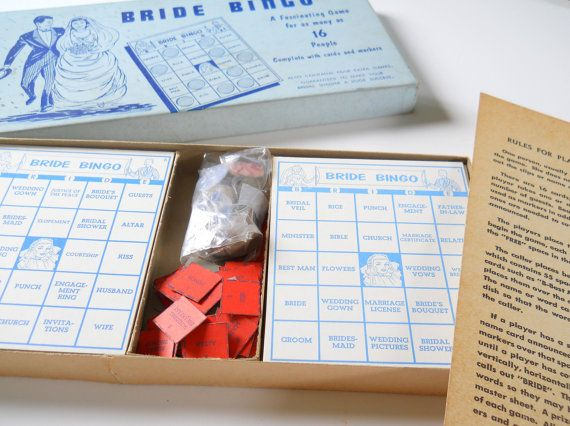 Vintage Bride Bingo Wedding Shower Game  Mid by lisabretrostyle