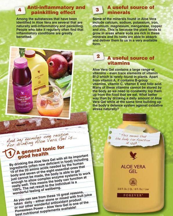 Top Ten Reasons To Drink Aloe Vera