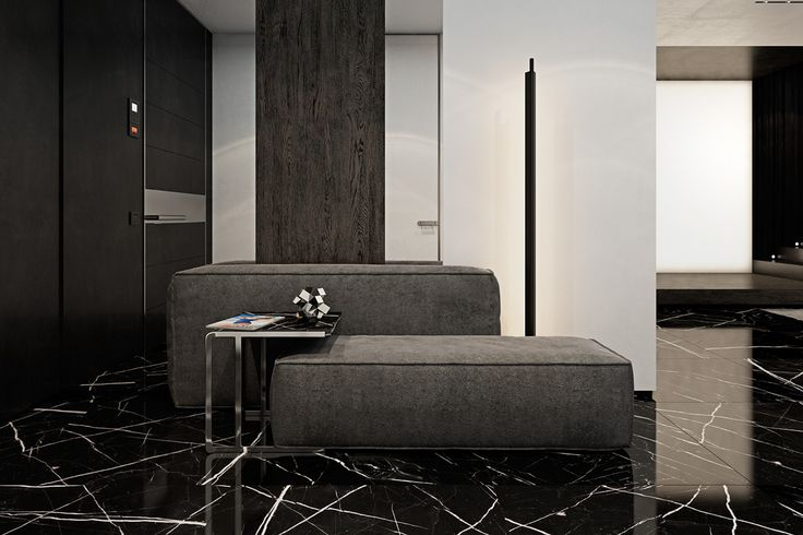 Slate, ebony, leather – luxurious materials like these are the backbone of a sophisticated dark interior. They bring to mind the sound of clinking of cocktail