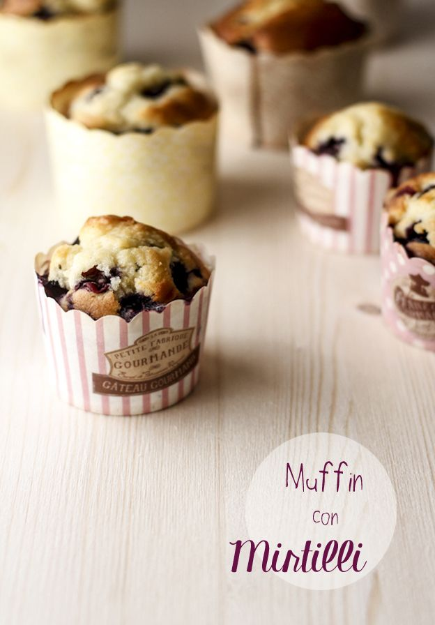muffin con i mirtilli