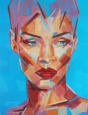 """12"" original portrait painting by artist Robert Hewer available at Saatchi Art #SaatchiArt"