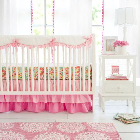Perfect Pink Ombre Crib Bedding For Baby Girl