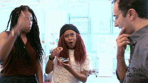 dance dancing happy dance turn up jessica williams 2 dope queens phoebe robinson trending #GIF on #Giphy via #IFTTT http://gph.is/2ck1js4