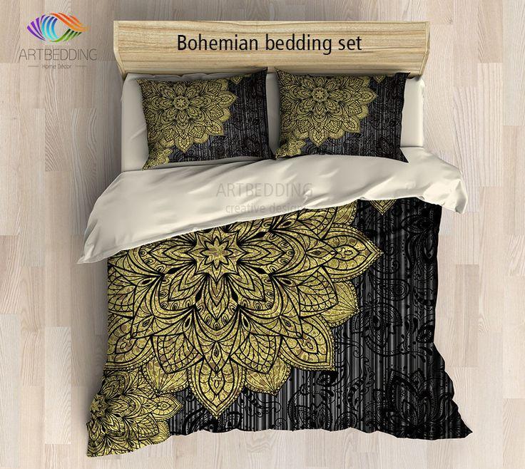 Mandala bedding, Bohemian duvet cover set, Deco mandala bedding, Boho  bedspread, hippie - Best 25+ Hippie Bedding Ideas On Pinterest Hippie Room Decor