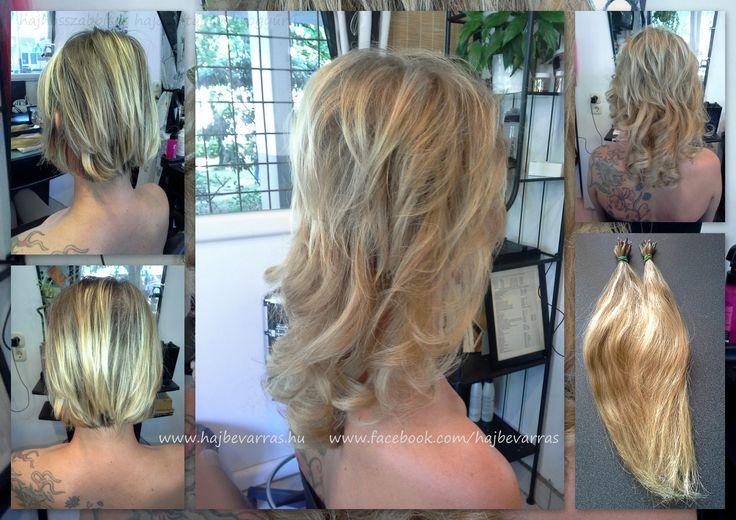 Hajhosszabbítás 30 cm-es európai hajból, mikrogyűrűs felvarrással. www.hajbevarras.hu www.fb.com/hajbearras #hajhosszabbitas #hajdusitas