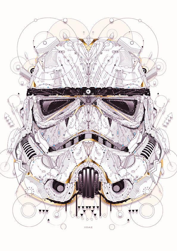 star wars by Yo Az, via Behance