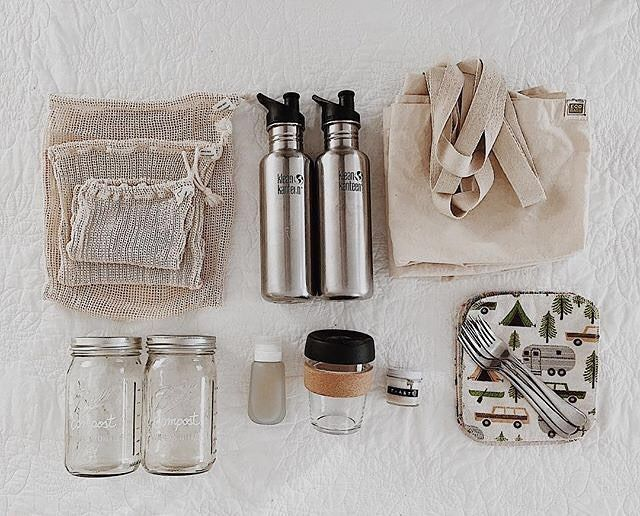 Couple's Travel Zero Waste Kit | The mason jars are to store compost until they can dispose of it appropriately #zerowaste #bettertogether #environmentalism – Heathered Handmades