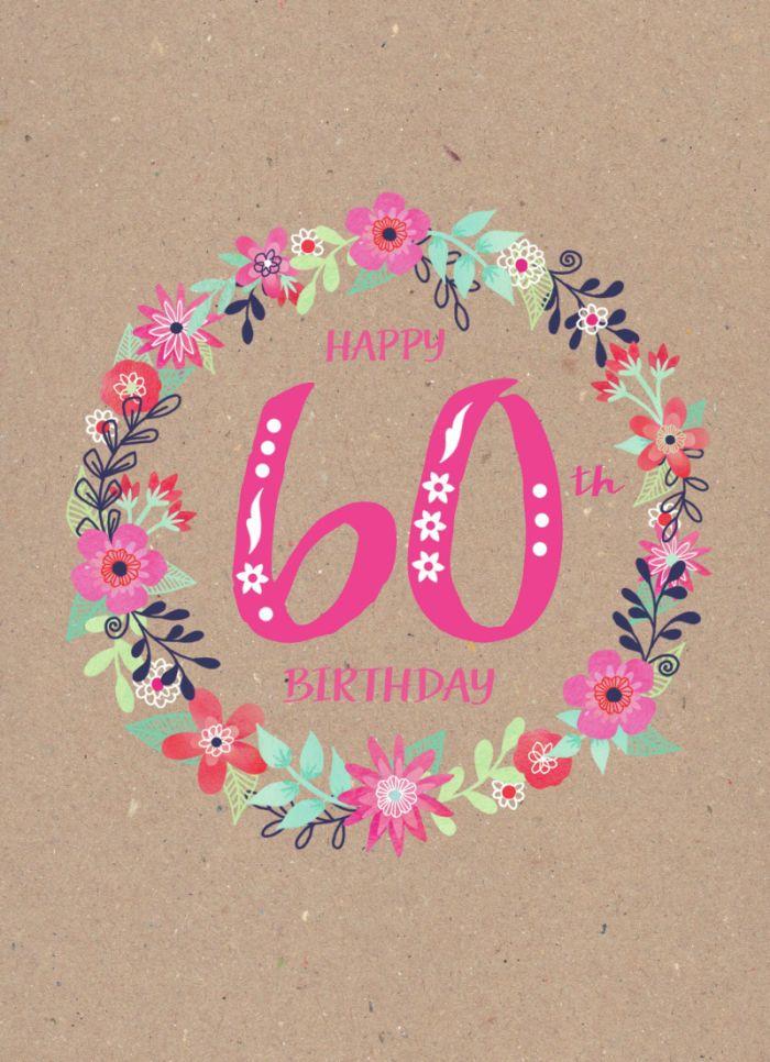 Jane Ryder Gray Female 60th Birthday Flowers Birthday Wishes