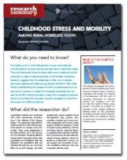 Childhood Stress and Mobility Among Rural Homeless Youth - Homeless Hub Research Summary Series  http://homelesshub.ca/resource/childhood-stress-and-mobility-among-rural-homeless-youth-homeless-hub-research-summary#sthash.3yajve83.dpuf